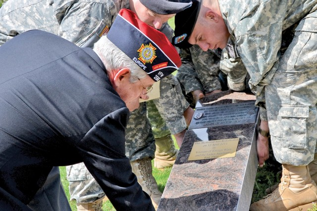 Medal of Honor monument unearthed, rededicated in Baumholder