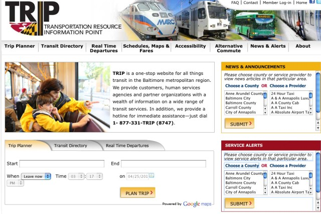 Screenshot of MDtrip.org