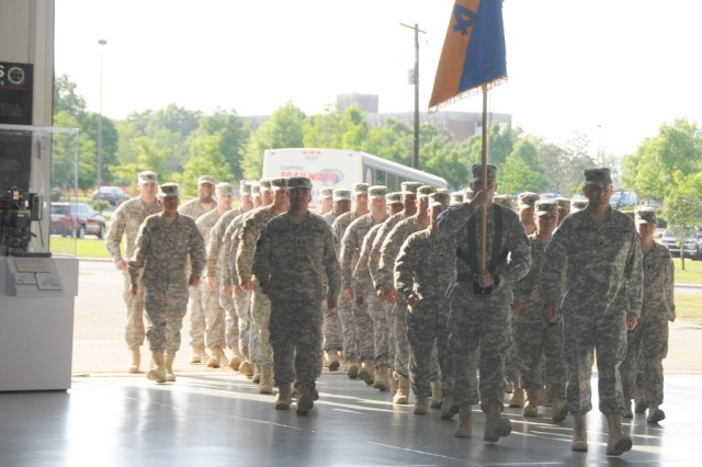 Family, friends, welcome 164th TAOG Soldiers home