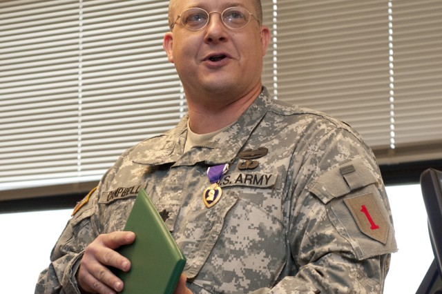 New change in policy allows Fort Riley officer to receive Purple Heart days before Afghanistan deployment