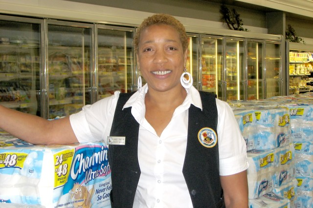 "Aca,!A""All the case lot sales here. They are huge,  major sales that are great for business.Aca,!A? - Janice Traylor grocery manager  Fort McPherson Commissary"
