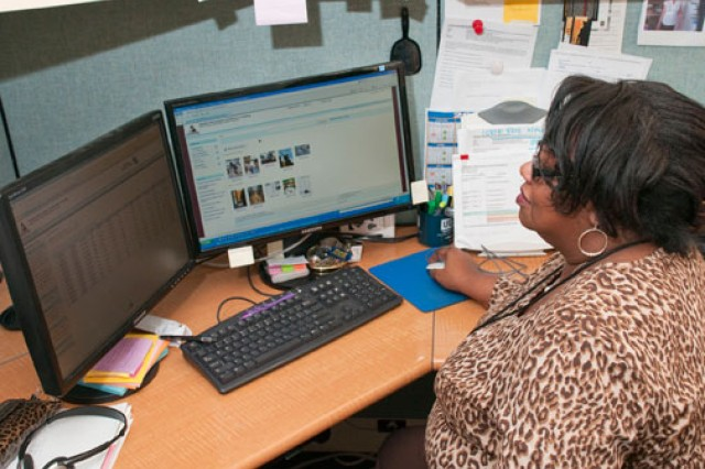 Lola Daniels, production and distribution manager for the HIO e-catalog, regularly reviews orders placed via the HIO website. The catalog covers a wide spectrum of public health issues.