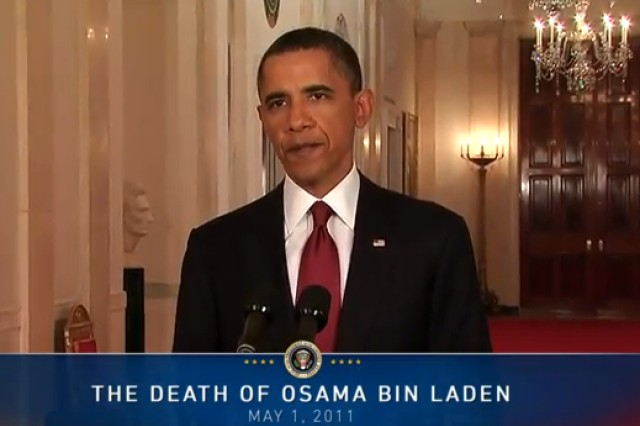 """""""Justice has been done,"""" President Barack Obama said in announcing the death of Osama bin Laden in a U.S. military operation in Pakistan. The attack ends a manhunt of almost 10 years. Bin Laden and his henchmen planned and executed the attacks of September 11, 2001, that killed 3,000 innocent Americans in New York, Washington and Pennsylvania."""