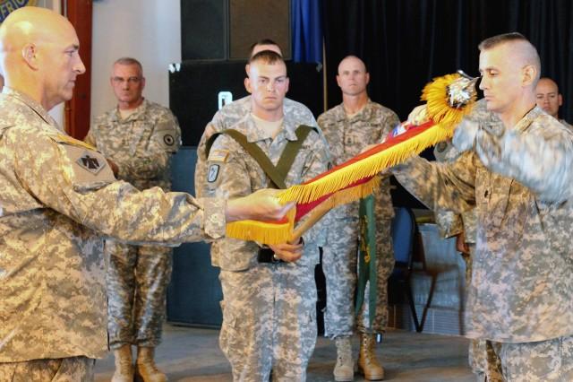 Kansas Guardsmen pass torch at Camp Lemonnier, Djibouti