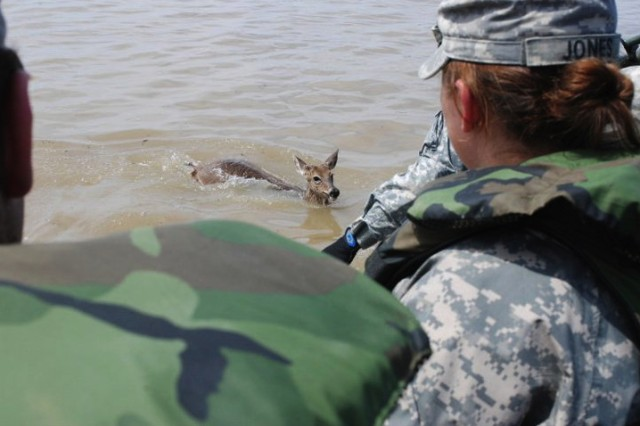 Missouri Guard patrols rising flood waters