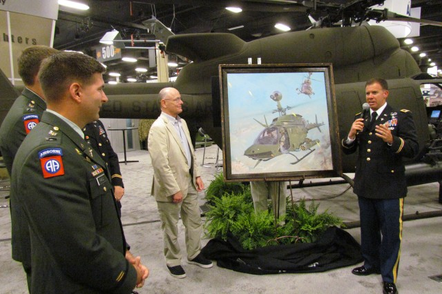 Unveiling Of A Painting Depicting Col. Morgan's And His Team Battling With Insurgents