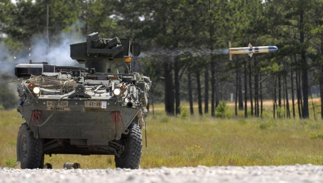 Stryker fires TOW missile