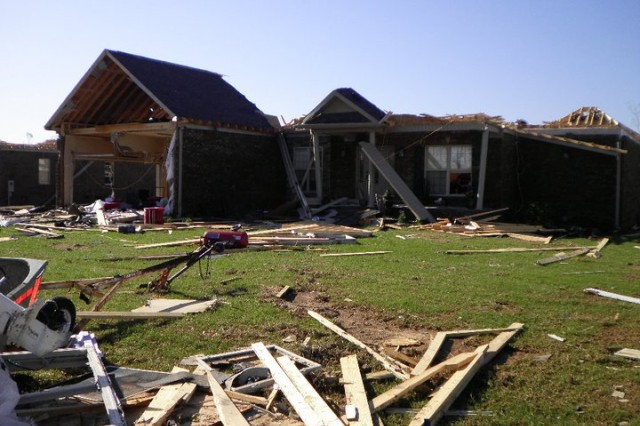 A catastrophic storm ripped through northern Alabama on Wed. April 27, 2011, killing more than 200 people around the state.Pictured above is the damage to Tillery's home after a F5 tornado hit on April 27 in Athens, Ala. She and her family all survived unharmed. Courtesy photo by Sue Tillery.