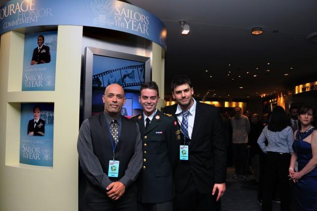 Chris, Martin and Eric at Navy Memorial