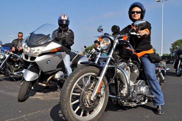 IMCOM employees are geared up and ready to ride through Texas countryside. ""