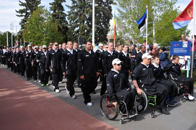 The Army team, about 80 Soldiers, is the largest of the Warrior Games teams. They will compete in archery, wheelchair basketball, cycling, shooting, swimming, track and field, and sitting volleyball through May 21, 2011, at the Olympic Training Center