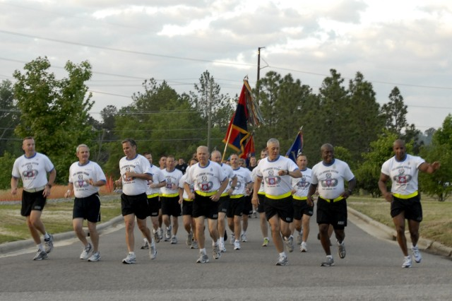 Over 22,000 Paratroopers from the 82nd Airborne Division kick off this years All American Week with 4 mile division run. This is the first time since 2006 that the entire division has been able to participate in All American Week.