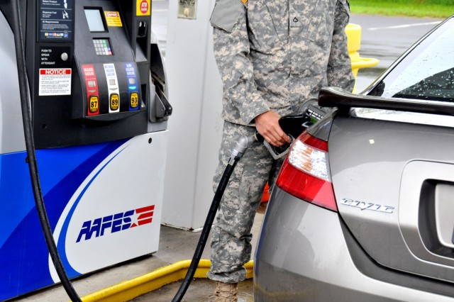 High gas prices affect military motorists, too