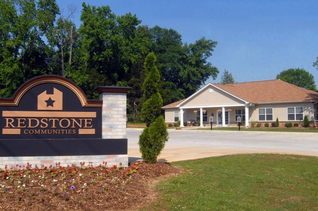 Approximately 1,062 people live in the 352 homes available through the Redstone Communities military housing on post managed by Pinnacle, which oversees the privatized housing for Hunt Development Group.