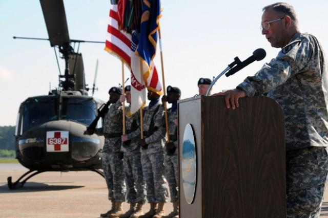 Post honors UH-1 Huey as aircraft retires