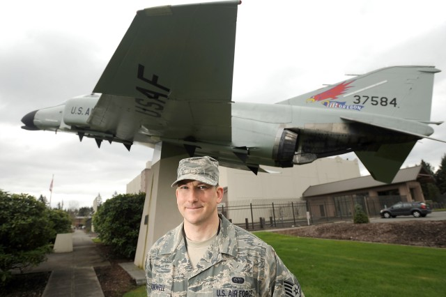 Staff Sgt. Keven Blackwell is a former Army medic now serving as an Air Force network infrastructure technician with WADS. The Airman was named one of McChord Field's Professional of the Week in April.