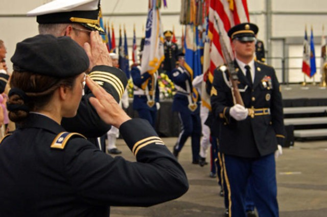 The Massing of the Colors honors past and present service members from all branches of the U.S. military. The annual event was held Sunday at the Pavilion and also served as Fort Meade's Memorial Day Remembrance.