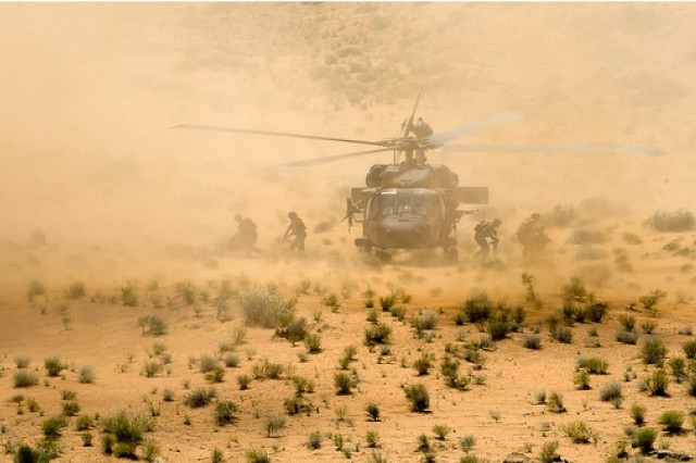 ANCOP SWAT team exits Black Hawk