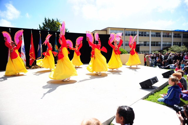 PRESIDIO OF MONTEREY, Calif. - The Korean Fan dance has been a crowd favorite for the more than 30 year history of Language Day at DLIFLC.