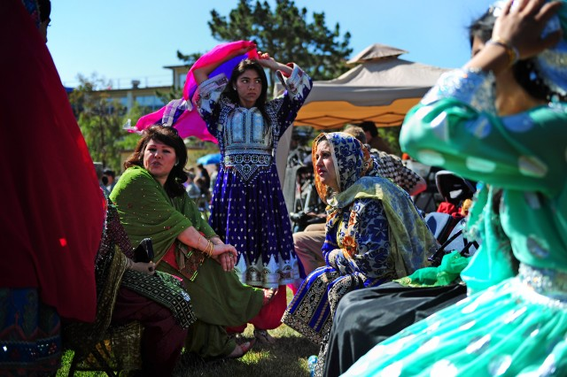 PRESIDIO OF MONTEREY, Calif. - Colorful and exotic patterns could be seen on the traditional cultural attire worn by some of those in attendance for the 2011 Language Day.
