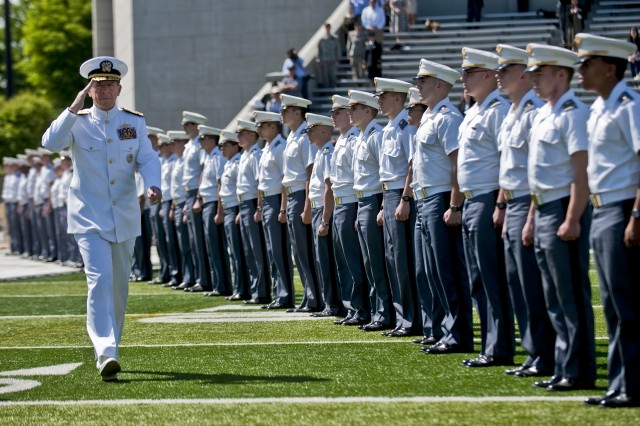 Navy. Adm. Mike Mullen, chairman of the Joint Chiefs of Staff, arrives at the U.S. Military Academy at West Point, N.Y., May 21, 2011. Mullen delivered a commencement address to 1,031 graduating cadets.