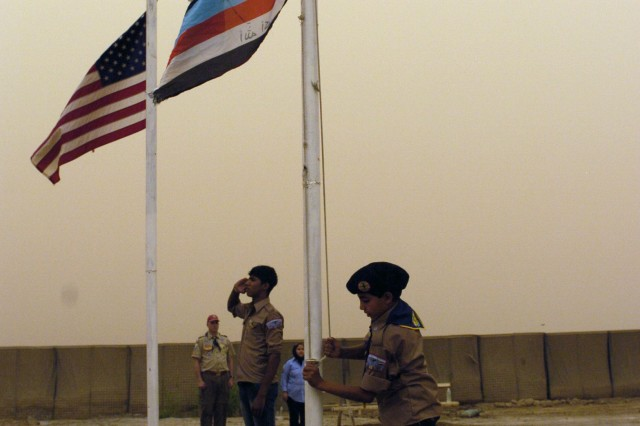 Service members, Iraqi scouts conduct final camporee