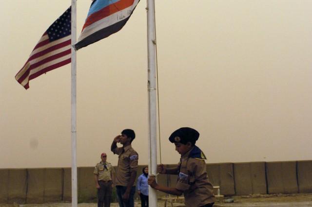 Service members, Iraqi scouts conduct final camporee