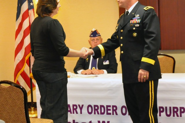 Natick commander takes part in Purple Heart ceremony
