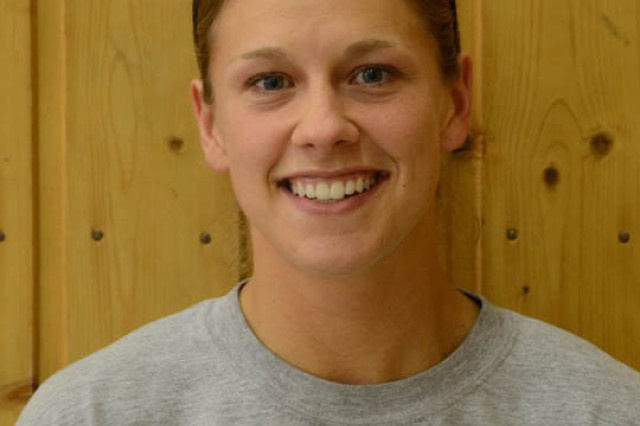 Capt. Danielle Cork will represent Army Europe in the 2011 Military World Games in July, playing on the All-Armed Forces volleyball team.