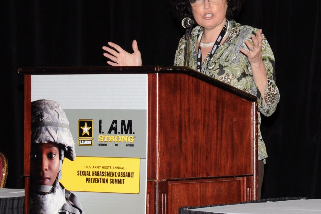 Lynn Rosenthal advisor to the White House's Commitment to Combating Violence Against Women praises the Army's efforts in its goal to eliminate sexual harassment and assault.