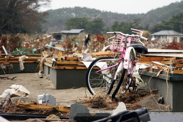 CAMP SENDAI Japan - Col. Craig J. Agena chief of the Bilateral Coordination Action Team's U.S. contingency at Camp Sendai talks with a Japanese official at the Rikuzen-Ono train station Higashi Matsushira Japan to help facilitate operations