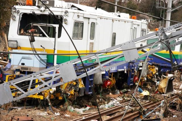 CAMP SENDAI Japan - The aftermath in Naruse near Naruse Daini Junior High School Japan.