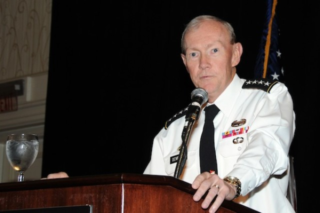 Chief of Staff of the Army Gen. Martin E. Dempsey outlines his nine focus areas for the Army of 2020 at the Association of the U.S. Army Institute of Land Warfare breakfast May 5 2011.