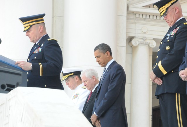 President Obama honors fallen heroes at Memorial Day Ceremony