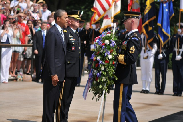 Obama, Horst lay wreath at Tomb of Unknowns