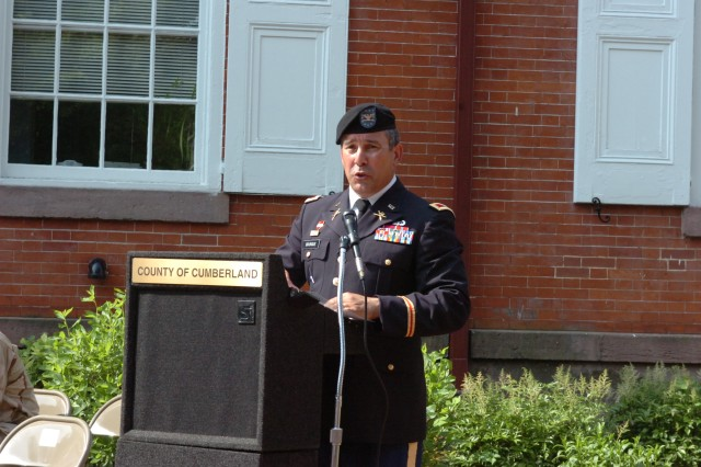 Col. Alan Bourque, former Army War College Chief of Staff, was the guest speaker for the 2011 Carlisle Memorial Day event, held in downtown Carlisle, Pa.