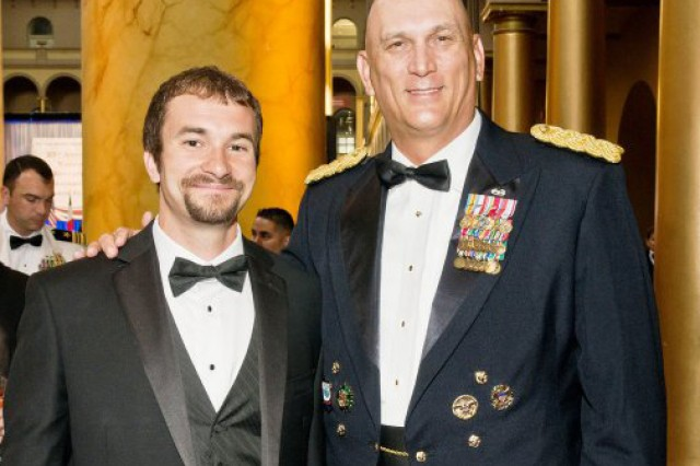 Staff Sgt. Salvatore Giunta, Medal of Honor recipient, and Gen. Raymond T. Odierno, commander, United States Joint Forces Command, attended the Sons of Italy annual National Educational and Leadership Awards Gala, May 25, 2011, in Washington, D.C.