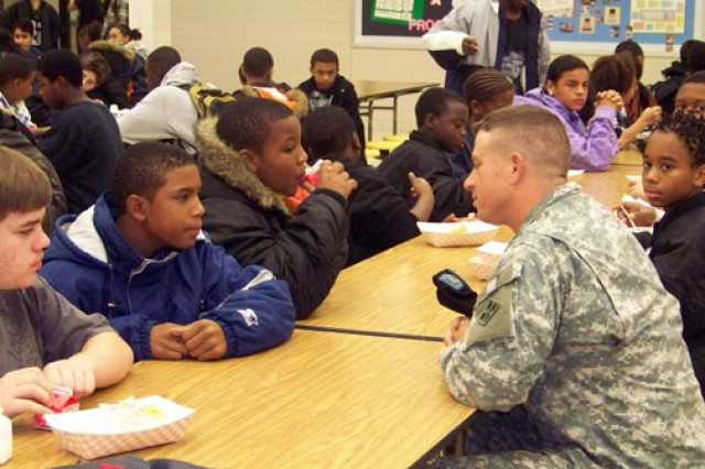 Soldiers are afforded the opportunity to volunteer in their communities through mentorship programs.