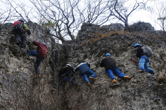 "Soldiers from the 172nd Infantry Brigade perfect their ""klettersteig"" skills in Hirschbach, Germany, during a Warrior Adventure Quest outing."
