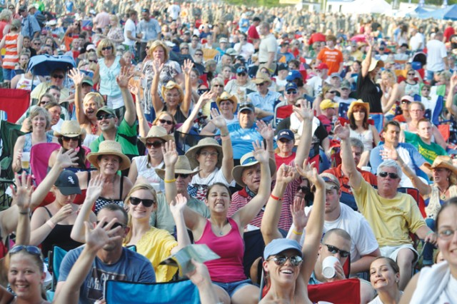 Thousands packed Wetherby Field for an afternoon of live music, food and fun. The pre-show kicked off at 3 p.m., with the gates opening for seating at 5:30. Mockingbird Sun opened the concert followed by Gloriana. Toby Keith closed out the night with a 90