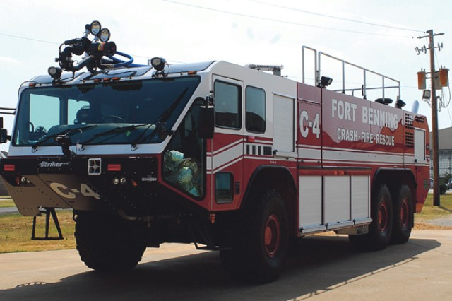 Fire and Emergency Services unveiled new vehicles in May. The Striker 3000 has two roof turrets which can deliver 3,000 gallons of water in less than three minutes.