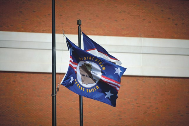 A new dedicated flag at the National Infantry Museum commemorates Operations Desert Shield and Desert Storm.