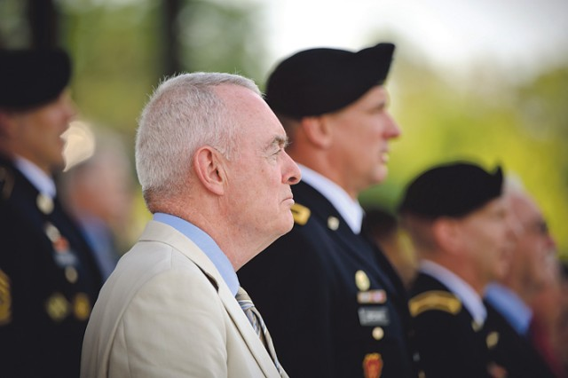 Retired Gen. Barry McCaffrey commanded the 24th Infantry Division (Mechanized) in the Gulf War. He was guest speaker at Thursday's 20th anniversary tribute.