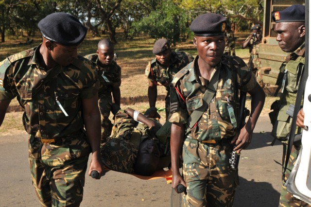 Soldiers train combat lifesaving skills at MEDREACH in Malawi