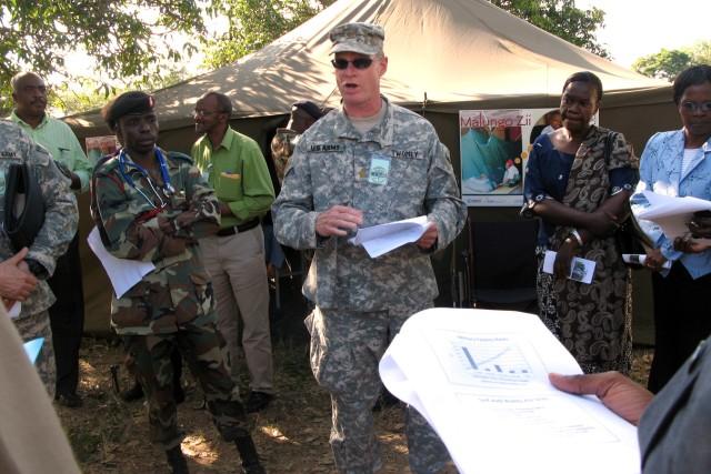 Soldiers train combat lifesaving skills at MEDREACH in Malawi
