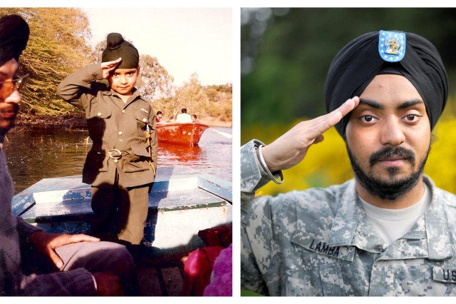 Spc. Simranpreet Singh Lamba wanted to be a Soldier from the time he was a young boy in India. After much persistence and one religious accommodation, Lamba's dreams became a reality as he became the first enlisted Sikh Soldier to join the U.S. Army.