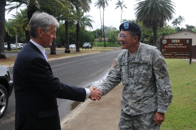 Secretary of the Army John McHugh visit POW/MIA Command