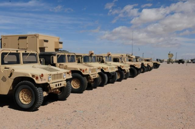 In preparation for the this summer's evaluation, Soldiers from the 2nd Brigade Combat Team, 1st Armored Division, attend equipment training on acres of sprawling motor pool lots, teaming with the latest combat and tactical vehicles, including