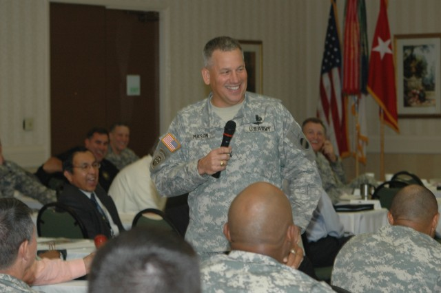 "FORT BRAGG, N.C. (June 9, 2011) – Maj. Gen. Raymond Mason, the Army Forces Command deputy chief of staff for logistics, reminded attendees of the three-day FORSCOM G-4 ""Back to Basics"" Conference of what Lt. Gen. Mitchell H. Stevenson, the Department of the Army deputy chief of staff for logistics, had told them: ""We've accomplished everything that's been asked of us."" The purpose of the conference was to help the Army logistics leaders to continue to accomplish the future missions given them equally well."