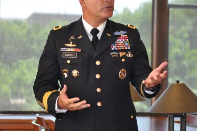 Major General John Campbell at the Pritzker Military Library in Chicago